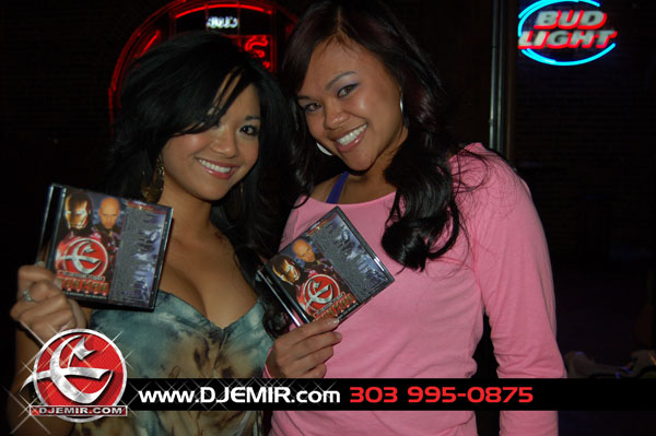 DJ Emirs Mixtape Fans: Beautiful Ladies holding Up DJ Emir Iron Man Mixtape