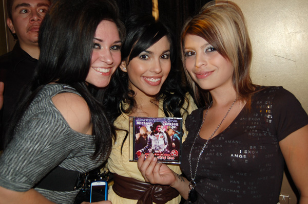 DJ Emirs Mixtape Fans: Beautiful Ladies holding Up DJ Emir Michael Jackson Mixtape at Lavish Lounge Denver DJ Emir Birthday Party