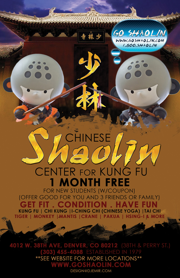 Shaolin Kung Fu Training 1 Month Free Coupon for New Students