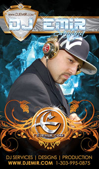DJ Emir Mixtapes Designs Music and Photography Business Card New York Yankees Hat 2x3