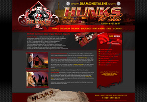 Hunks The Show Website Preview