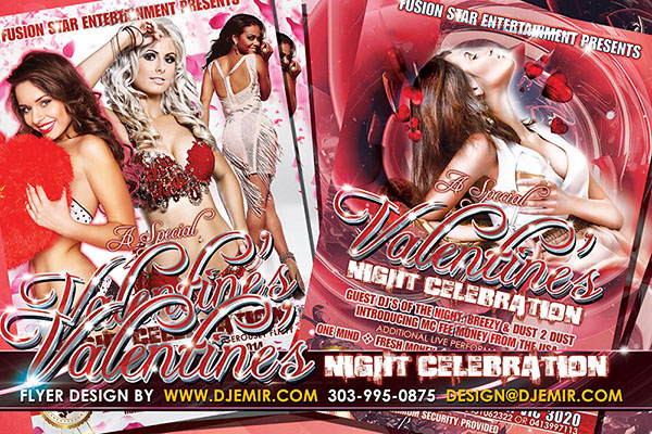 Valentine's Day Celebration Flyer Design