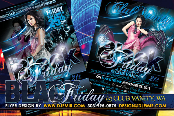 Black Friday After Party Flyer Design