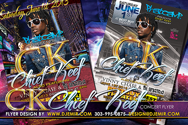 Chief Keef New York City Concert Flyer design
