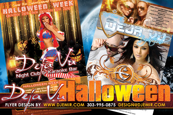 Deja Vu Halloween Party Flyer Design