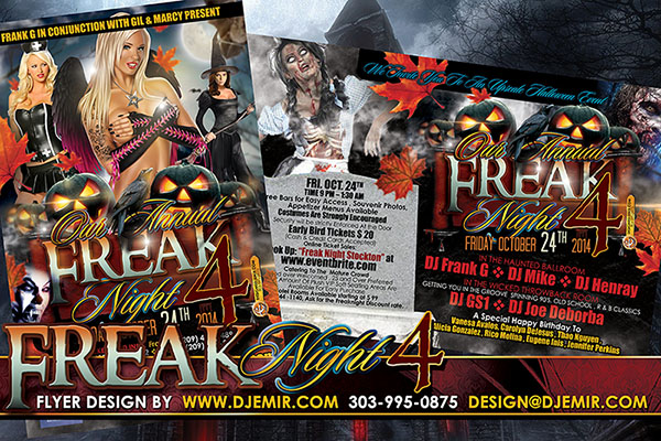 Freak Night 4 Halloween Flyer Design