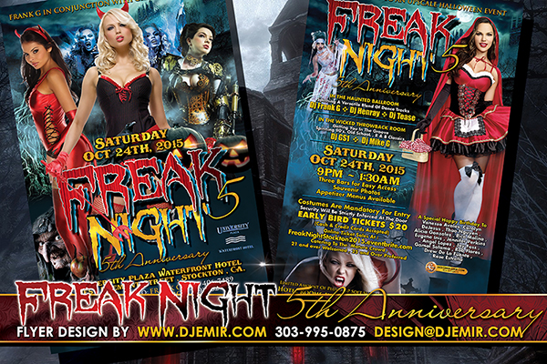 Freak Night 5 Halloween Flyer Design