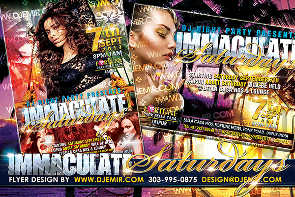 Immaculate Saturdays Flyer design