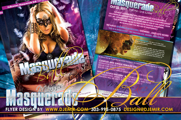 Masquerade Ball Halloween Flyer Design Kansas City