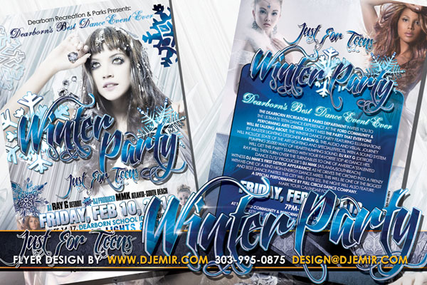 Winter Party Flyer Design