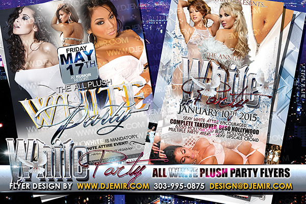 Annual All White Plush Party Flyers