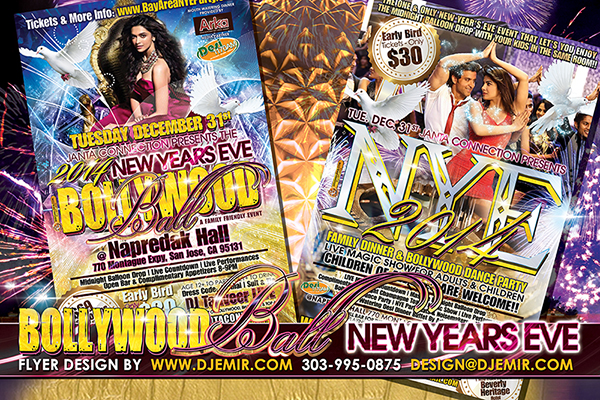Janta Connection Bollywood New Years Eve Flyer Design