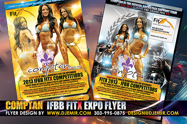 Fitness Competition IFBB FitX Fitness Model Exposition flyer design