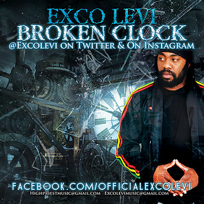 Exco Levi Broken Clock Reggae Single Album Cover Design Back