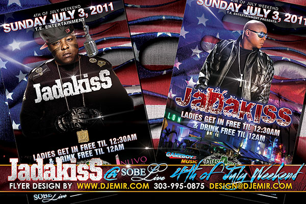 Sobe Live Jadakiss 4th of July Independence Day Weekend Flyer design