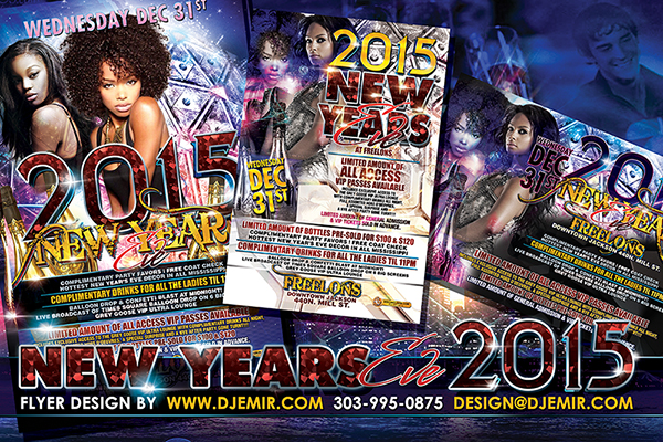 New Year's Eve 2015 Flyer Design