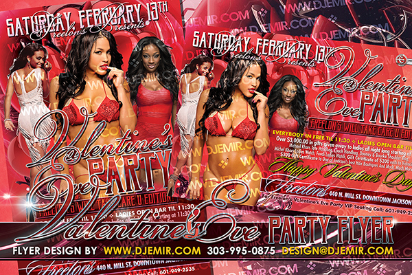 Amazing Valentine's Day Eve Flyer design