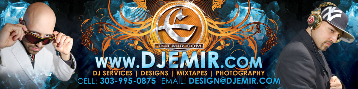 DJ Emir Santana Mixtapes Designs Photography DJs Denver Colorado AndNew York