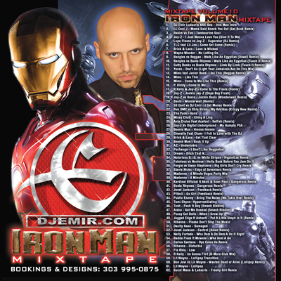 DJ Emir Iron Man Mixtape CD Mixtape Cover Design
