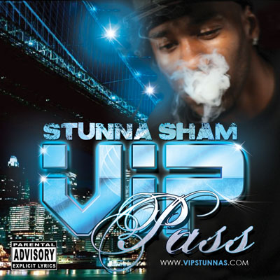 Stunna Sham Mixtape Album Cover Design Front