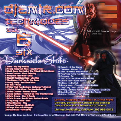 Star wars Mixtape Darth Maul Back Cover