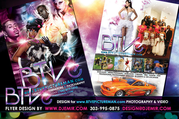 Amazing Flyer Designs BTVE Video Production and Photography Flyer Design