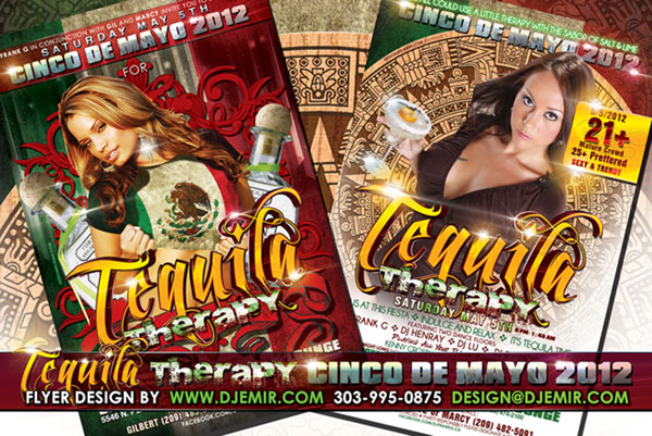 Amazing Flyer Designs Cinco De Mayo Tequila Therapy California Nightclub Party Flyer