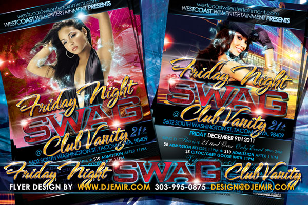 Friday Night Swag Flyer Design