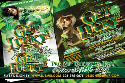 Amazing Flyer DesignsGet Lucky 2 St Patricks Day Flyer design