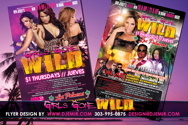 Amazing Flyer Designs Girls Gone Wild Thursdays New Jersey