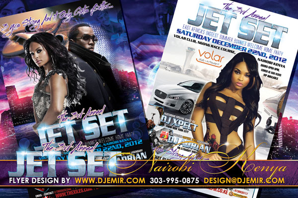 Jet Set Party Flyer Design