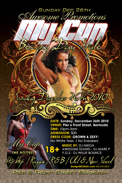 Nightclub Flyer Design for My Cup Boxing Day Christmas Party