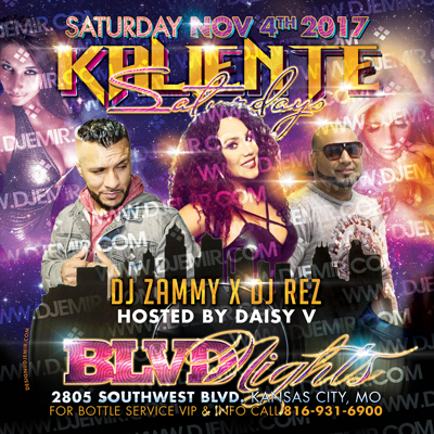 Kaliente Saturdays Latin Night At Blvd Nights Kansas City Purple Flyer Design