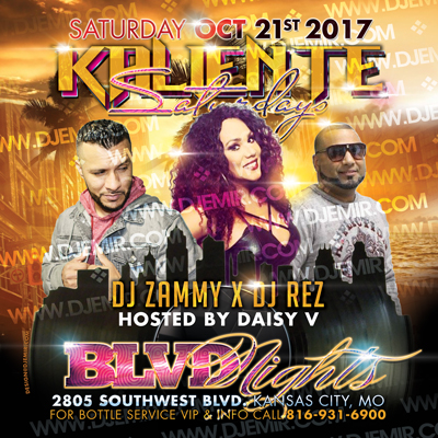 Kaliente Saturdays Latin Night At Blvd Nights Kansas City Flyer Design