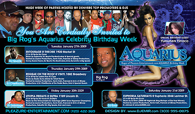 Big Rog Borthday Party Flyer design TV Screen Version on Black