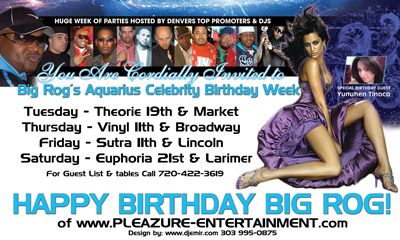 Birthday Banner Flyer Design on White