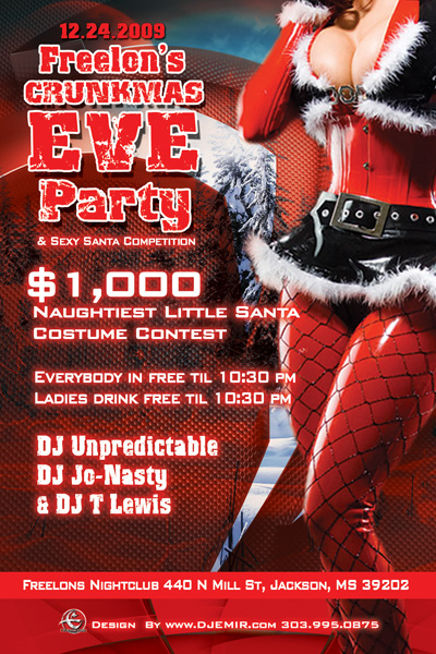 Christmas Party Flyer Sample http://www.djemir.com/nightclub-flyer-designs.html