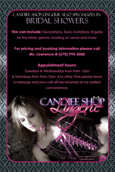 Candiee Shop Lingerie Flyer Design