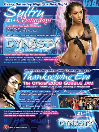 Dynasty Nightclub Flyer Design