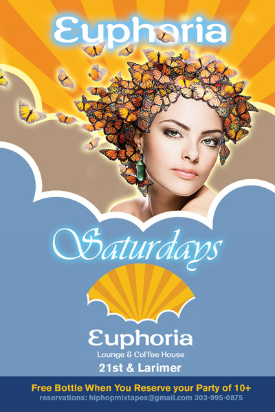 Euphoria Saturdays Nightclub Flyer design