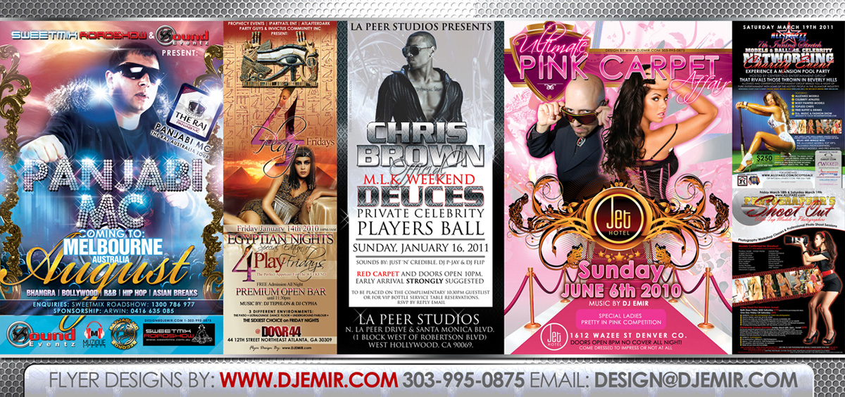 Flyer Designs and Graphic Design Services Sample Fliers Banner