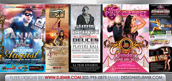 Flyer designs by Emir
