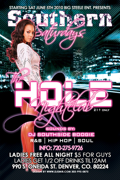 nightclub flyer