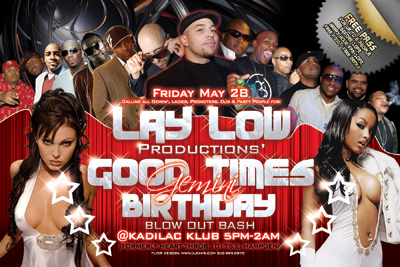 Laylow Good Times Gemini Birthday Party Flyer
