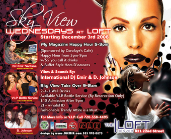 Fly Magazine Ad Sky View Wednesdays at Loft