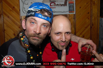 Iditarod Champion Lance Mackey and DJ Emir Santana at Iditarod After Party
