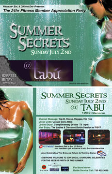 Tabu Nightclub Flyer Design