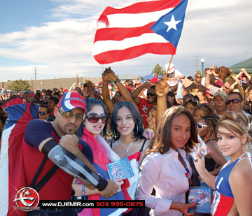 Puerto Rican Mixtape Fans at Puerto Rican Day Festival Denver