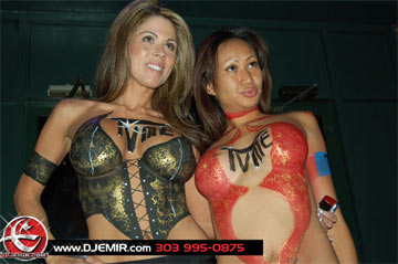 TVME Launch Party at Jacksons Hole Denver Colorado with Body Paint Models