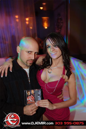 Lavish Nightclub Party Pictures DJ Emir with Mixtape Fan Justina